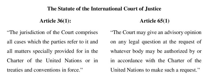 ICJ statute art 36 65