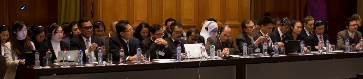 Photograph from Merits Hearing - November 2015 - Members of Observer Delegations