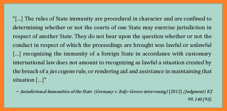 Immunities case 2012