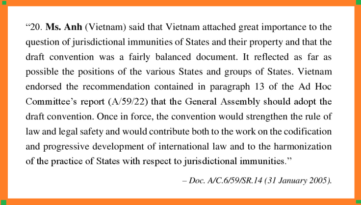 VN on jurisdictional immunities