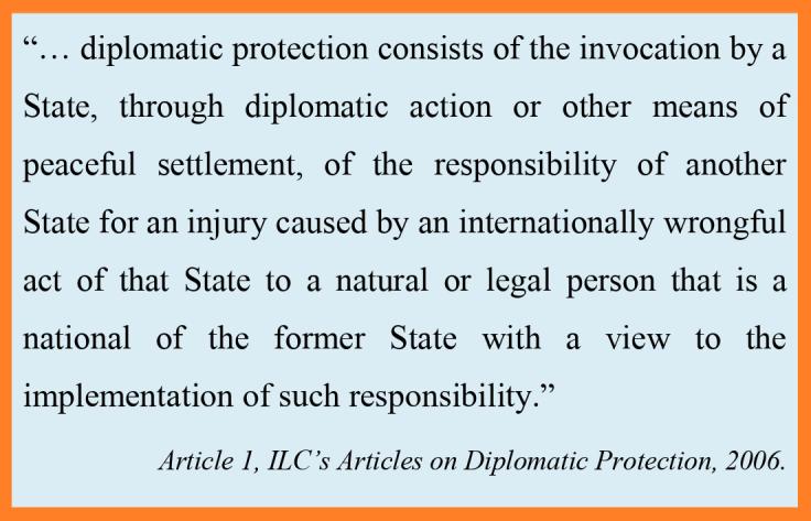 Art 1 ILC 2006 Diplomatic Protection