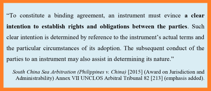 SCS Arb on definition of a Treaty