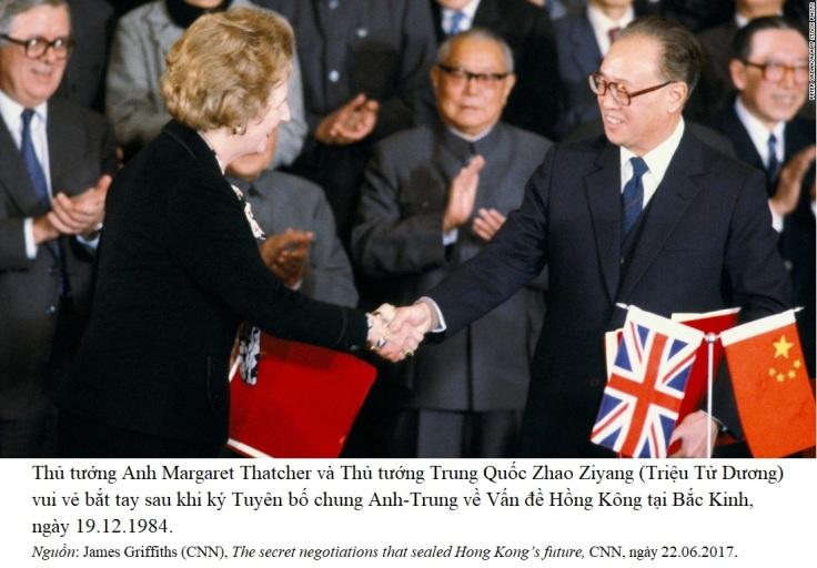 Thatcher & Zhao 1984 Hongkong
