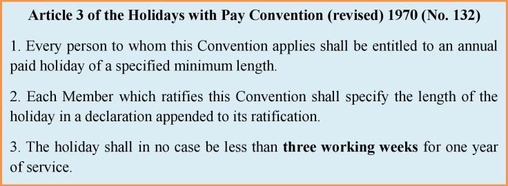 ILO 132 art 3