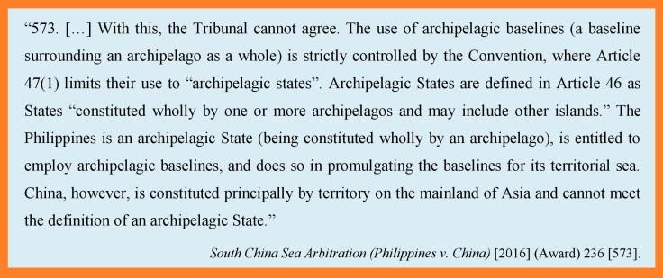 Art 47 SCS Arbitration