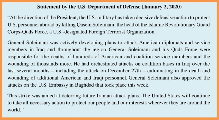 US DoD Soleimani statement