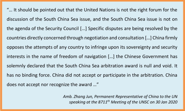 China view SCS UNSC