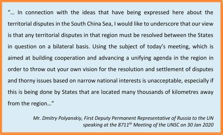 Russia view SCS UNSC